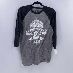 Sun record company johnny cash raglan tee shirt M